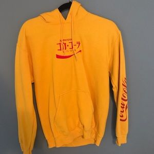 Urban outfitters yellow coca-cola Japanese hoodie